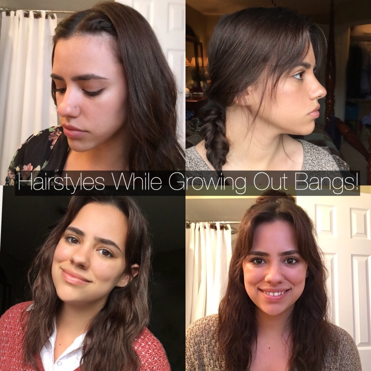 growing out bangs hairstyles